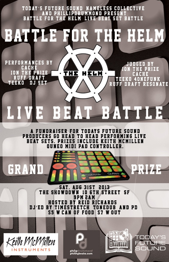Live beat set battle for a Keith McMillen QuNeo, a fundraiser for Today's Future Sound!