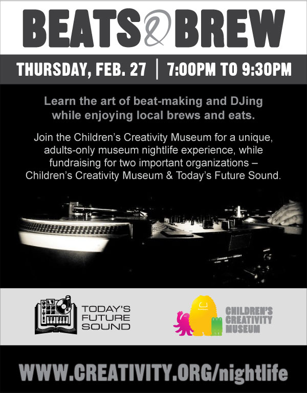 Beats and Brew TFS-CCM fundraiser feb 27th SF