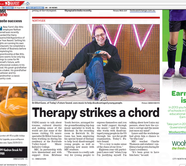 Brisbane MIC-TFS Therapy Strikes a Chord article