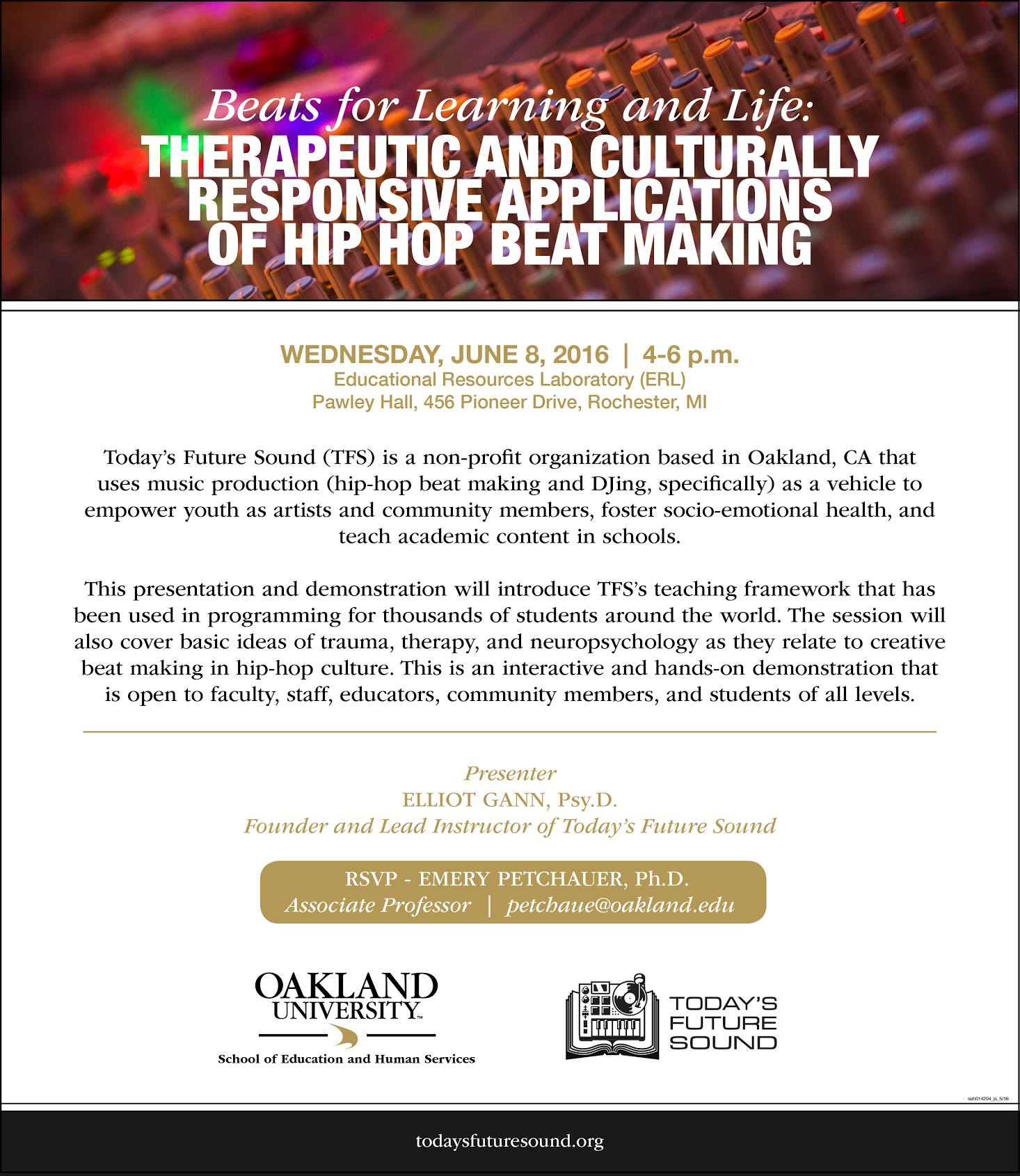 Beats for Learning and for Life - Therapeutic & Culturally Responsive Applications of Hip Hop Beat Making